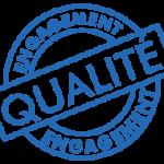 logo engagement qualité. Concept Détente engagement de qualité